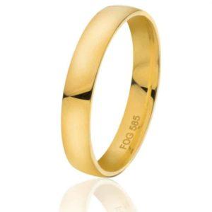 Glatt giftering i hvitt eller gult gull