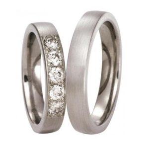 Forlovelsesring/giftering i titan, modell uten diamanter T300